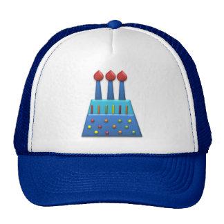 BonBon Party Rainbow Birthday Cake Blue Trucker Hats