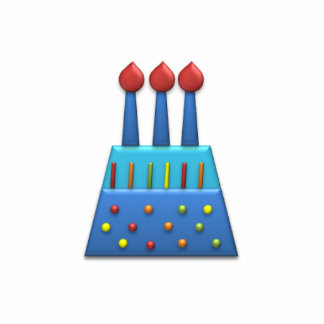 BonBon Party Rainbow Birthday Cake Blue Statuette