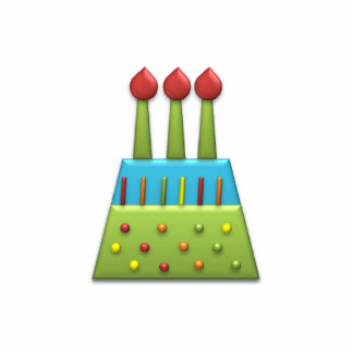 BonBon Party Rainbow Birthday Cake Green Cutout