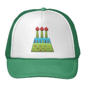 BonBon Party Rainbow Birthday Cake Green Trucker Hat