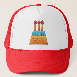 BonBon Party Rainbow Birthday Cake Orange Trucker Hat