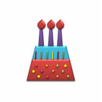 BonBon Party Rainbow Birthday Cake Red Statuette