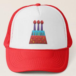 BonBon Party Rainbow Birthday Cake Red Trucker Hat