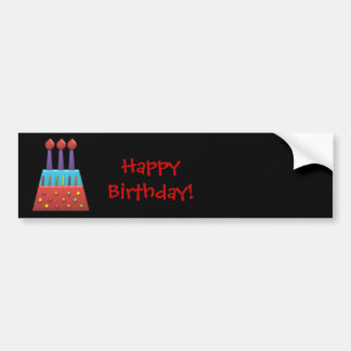 BonBon Party Rainbow Birthday Cake Sticker