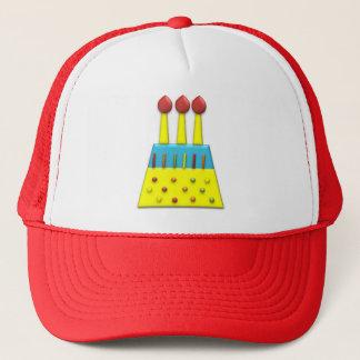 BonBon Party Rainbow Birthday Cake Yellow Trucker Hat