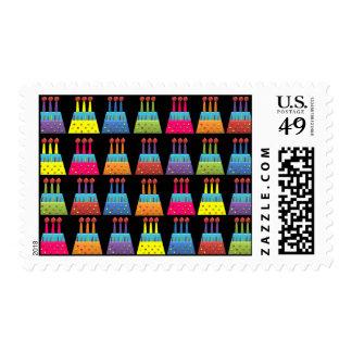BonBon Party Rainbow Birthday Cakes Stamp