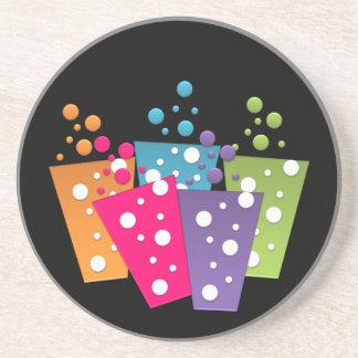 BonBon Party Rainbow Groove Pop Drink Sandstone Coaster