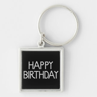 BonBon Party Rainbow Happy Birthday Keychain