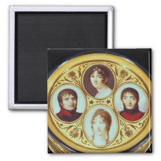 Bonbonniere con los retratos de Eugene Hortense Imanes Para Frigoríficos