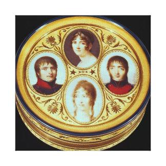 Bonbonniere con los retratos de Eugene Hortense Lienzo Envuelto Para Galerias