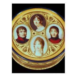 Bonbonniere con los retratos de Eugene Hortense Postal