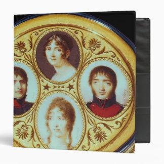 Bonbonniere with portraits of Eugene  Hortense 3 Ring Binder