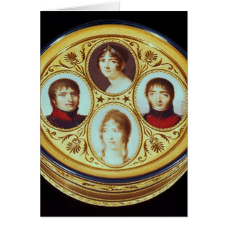 Bonbonniere with portraits of Eugene  Hortense Card