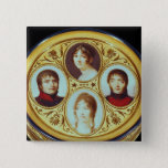 Bonbonniere with portraits of Eugene  Hortense Pinback Button