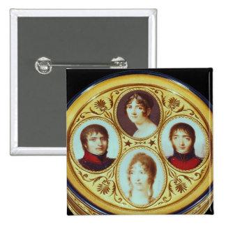 Bonbonniere with portraits of Eugene  Hortense Pinback Button
