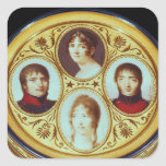 Bonbonniere with portraits of Eugene  Hortense Square Sticker