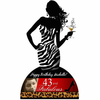 Bonbshell Zebra Leopard Birthday Table Centerpiece Cutout