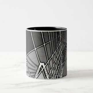 Bond Bridge in black and white Two-Tone Coffee Mug
