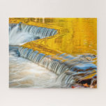 Bond Falls Abstract Fall Colors Nature Photography Jigsaw Puzzle