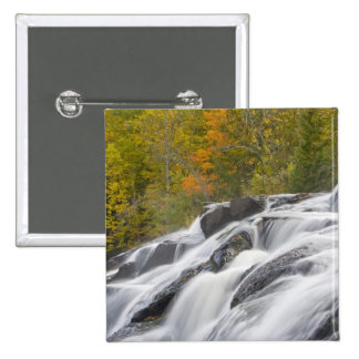 Bond Falls on the Middle Fork of the Ontonagon 2 Inch Square Button