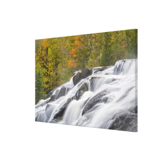 Bond Falls on the Middle Fork of the Ontonagon Stretched Canvas Print
