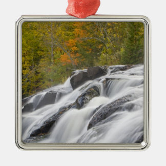 Bond Falls on the Middle Fork of the Ontonagon Metal Ornament