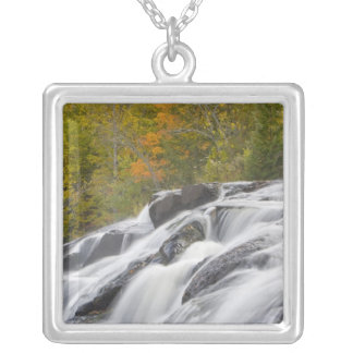 Bond Falls on the Middle Fork of the Ontonagon Silver Plated Necklace