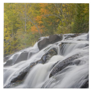 Bond Falls on the Middle Fork of the Ontonagon Large Square Tile