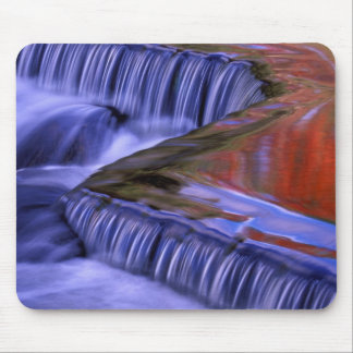 Bond Falls; Reflecting Fall Colored Leaves; Mouse Pad