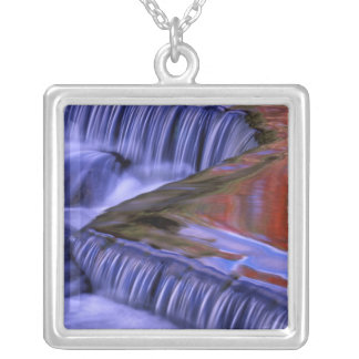 Bond Falls; Reflecting Fall Colored Leaves; Custom Necklace