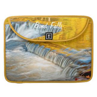 Bond Falls Reflecting Fall Colors MacBook Pro Sleeves