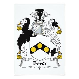 Bond Family Crest 5x7 Paper Invitation Card