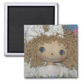 Bonde Blue-Eyed Raggedy Ann Doll Magnet