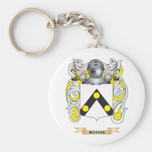Bonde Coat of Arms (Family Crest) Basic Round Button Keychain