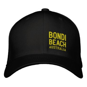 BONDI BEACH AUSTRALIA EMBROIDERED BASEBALL CAP