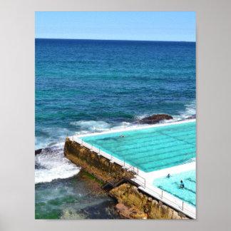 Bondi Beach Australia Ocean Pool Poster