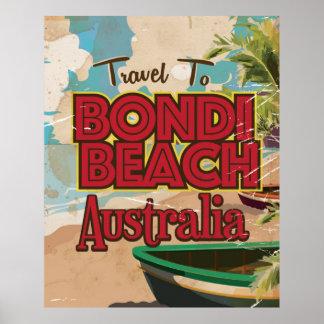 Bondi Beach Australia Vintage vacation Poster