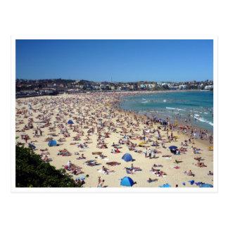 bondi beach crowds postcard