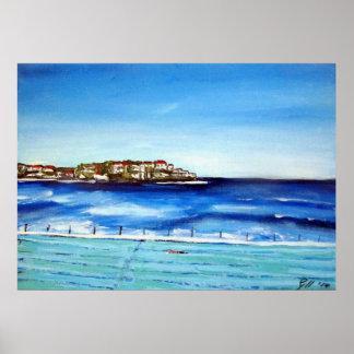 Bondi Beach Icebergs...my fav colour is blue Poster