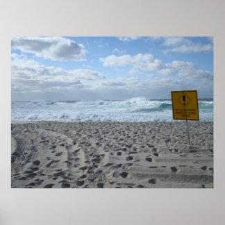Bondi Beach - No Lifeguard Poster