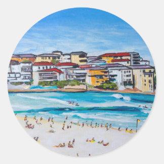 Bondi Beach North Corner Classic Round Sticker