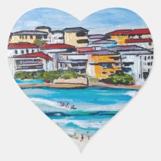 Bondi Beach North Corner Heart Sticker