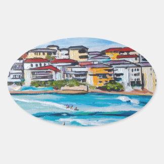 Bondi Beach North Corner Oval Sticker