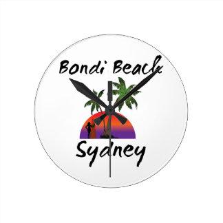bondi beach sydney round clock