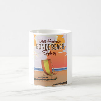 Bondi Beach vintage Travel Poster Coffee Mug