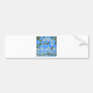 Bondi Blue Abstract Low Polygon Background Bumper Sticker