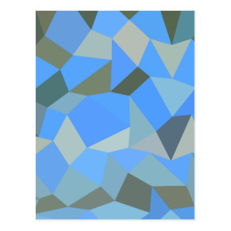Bondi Blue Abstract Low Polygon Background Postcard