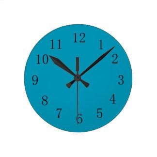 Bondi Blue Color Kitchen Wall Clock