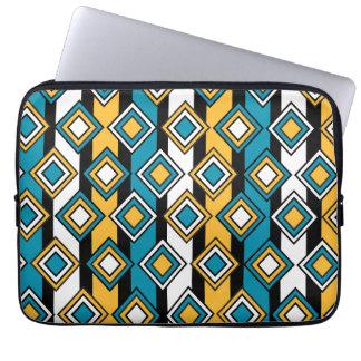 Bondi Blue saffron Black White Diamond Pattern Computer Sleeves