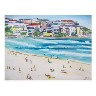 Beach Themed Bondi Blues Postcard